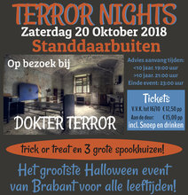 Terror Nights standdaarbuiten Tickets 26 oktober 2019
